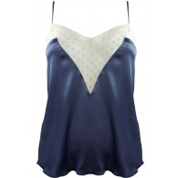 PLUMETIS, LACE AND SILK CAMISOLE