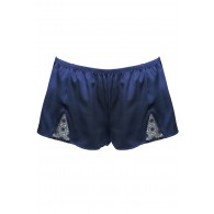EMBROIDERY AND SILK BOXER SHORTS